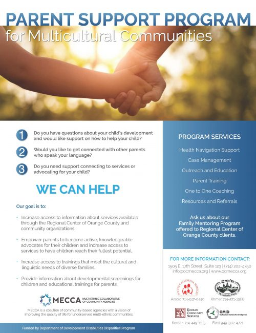 Parent Support Flyer 2019